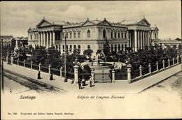 CPA Santiago De Chile, Edificio Del Congreso Nacional - Chile