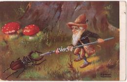 Portafortuna Glucksbringer Portebonheur Gnomo Scarabeo Funghi Elf Dwarf Scrabble Pilze Illustratore E. Dorno Munchen - Cuentos, Fabulas Y Leyendas