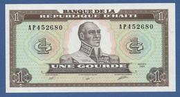 HAITI - P.253 – 1 Gourde1989 UNC Serie AP452680 - Haiti