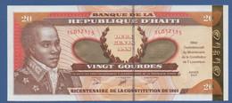 """HAITI - P.271 – 20 Gourdes2001 """"Bicentennial Of The Constitution"""" Commemorative Issue UNC Serie TL012115 - Haiti"""