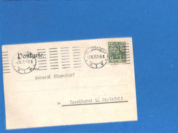 Allemagne Reich 1911 Carte Postale De Wiesbaden (perfin)  (G3366) - Lettres & Documents