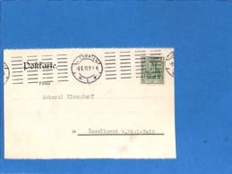 Allemagne Reich 1911 Carte Postale De Wiesbaden (perfin)  (G3367) - Covers & Documents