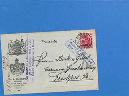 Allemagne Reich 1917 Carte Postale De Colmar  (G3368) - Covers & Documents