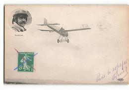 Léon BATHIAT Et Sa Célèbre MOUSTACHE Sur Son Monoplan ELD Aviateur Avion - Aviadores