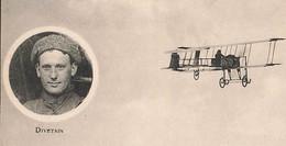 Très Rare Pierre Marie Joseph Divetain Né à Cherbourg Manche Agrandie Top ELD Aviateur Avion - Aviadores