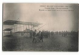 Rare Charles Terres Weymann Sur Biplan Farman Top MEZIERES Charleville Champ D'aviation Août 1910 ELD Aviateur Avion - Aviadores