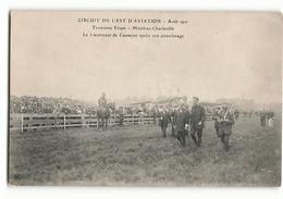 Rare Arrivée Du Lieutenant DE CAUMONT  MEZIERES Charleville Champ D'aviation Le Pesage Août 1910 ELD Aviateur - Aviadores
