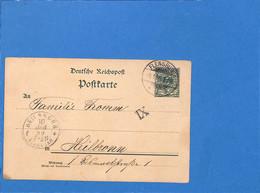 Allemagne Reich 1899 Carte Postale De Flensburg (G3373) - Covers & Documents