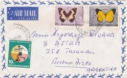 PAPUA & NEW GUINEA. ENVELOPPE CIRCULEE ANNEE 1966, WABAG A BUENOS AIRES ARGENTINE. PAR AVION.- LILHU - Papua Nuova Guinea