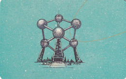 GERMANY(chip) - Here We Are/Atomium-Belgium(A 52 G), CN : 1209, Tirage %49000, 12/91, Mint - Altri