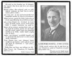 Lodewijk Dosfel, Doctor In De Rechten, Dendermonde 1881 - Dendermonde 1925 - Décès