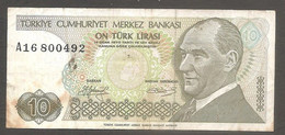 Turchia - Banconota Circolata Da 10 Lire P-192a.1 - 1979 #19 - Turkey