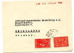 Lettre Via Italia De Djeddah (Dec. 1939) Pour Heidelberg - Saudi Arabia