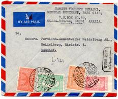 Lettre Par Avion De La Mecque (14.05.1951) Pour Heidelberg Via Djeddah - Saudi Arabia