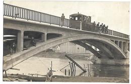 CHATEAU THIERRY - Train Sur Le Nouveau Pont  - CARTE PHOTO - Chateau Thierry