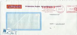 "Yugoslavia - Serbia - Sabac 1979 R - Letter,ATM,Machine Stamp,EMA, Meter Stamp ,,NAMA"" - Storia Postale"