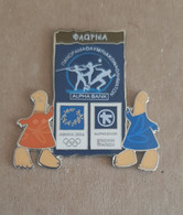 Athens 2004 Olympics - Alpha Bank Greek Sponsor, 2003 Panorama Olympic Games Series, Florina City Pin With Mascots - Jeux Olympiques