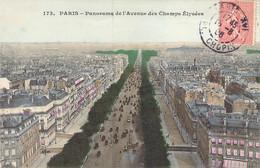 Panorama De L'Avenue Des Champs Elysées De PARIS Carte Colorisée 173 - Cartas Panorámicas