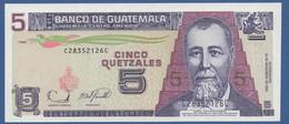 GUATEMALA - P.106b – 5 Quetzal  22.11.2006 UNC Serie C28352126C Printer FCO - Guatemala