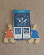 Athens 2004 Olympics - Alph Abank Greek Sponsor, 2003 Panorama Olympic Games Series, Serres City Pin With Mascots - Jeux Olympiques