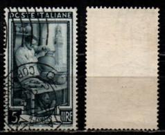 Italia Al Lavoro 5 Lire Filigrana Ruota 1 Sinistra Alta - 1946-60: Gebraucht