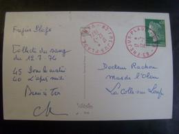 18143- CP Avec Cachet D'oblitération Rouge De Fréjus Plage (1974) - Bolli Manuali