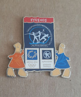Athens 2004 Olympics - Alpha Bank Greek Sponsor, 2003 Panorama Olympic Games Series, Evosmos City Pin With Mascots - Jeux Olympiques