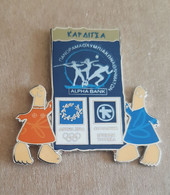 Athens 2004 Olympics - Alpha Bank Greek Sponsor, 2003 Panorama Olympic Games Series, Karditsa City Pin With Mascots - Jeux Olympiques