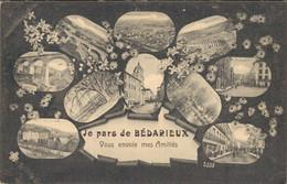 H2109 - Je Pars De Bédarieux - Vous Envoie Mes Amitiés - D34 - Bedarieux