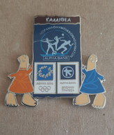 Athens 2004 Olympics - Alpha Bank Greek Sponsor, 2003 Panorama Olympic Games Series, Kallithea City Pin With Mascots - Jeux Olympiques