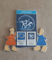 Athens 2004 OLympics - Alpha Bank Greek Sponsor, 2003 Panorama Olympic Games Series, Livadia City Pin With Mascots - Jeux Olympiques
