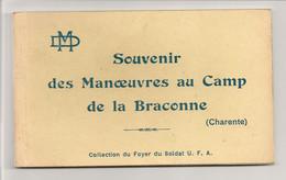 Ref 573 Tmb - CPA Carte 11 Cartes Souvenir Des Manoeuvres Au Camp De La Braconne 16 - Barracks