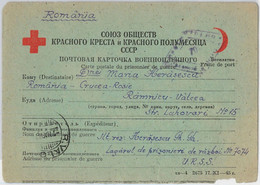 56052 - ROMANIA - POSTAL HISTORY: CARD To P.O.W. In RUSSIA 1948 - RED CROSS WWII - Cartas