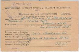 56050 -   ROMANIA /  WWII -  POSTAL HISTORY: CARD To P.O.W. In RUSSIA Sept 1947 - Cartas