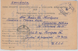 56047 -   ROMANIA /  WWII -  POSTAL HISTORY: CARD To P.O.W. In RUSSIA Oct. 1947 - Cartas