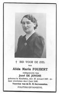 Politiek Gevangene, Alida Foubert, Kruibeke 1897 - Kruibeke 1946 - Décès