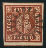 BAYERN MÜHLRADSTEMPEL AUF Nr 4II GMR 522 ZENTR- X883F92 - Bavaria