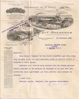 Ref TMB Courrier Brasserie De Saint St Yrieix G.C. Holdrerer La Perche 1931 Surcharge Expo Coloniale - 1900 – 1949