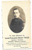 Luitenant WO II, Louis François Thijs, Adjudant - Reserve Luitenant, Ingenieur, Wellen 1916 - Vroenhoven 1940 - Décès