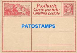 170281 LIECHTENSTEIN VADUZ CASTLE 20 RP POSTAL STATIONERY POSTCARD - Postwaardestukken