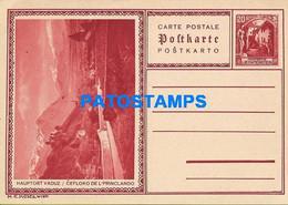 170282 LIECHTENSTEIN VADUZ MAIN PLACE 20 RP POSTAL STATIONERY POSTCARD - Postwaardestukken