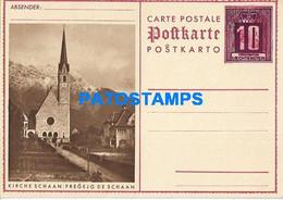 170283 LIECHTENSTEIN SCHAAN CHURCH  10 RP POSTAL STATIONERY POSTCARD - Postwaardestukken