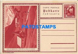170284 LIECHTENSTEIN STEG IM SAMINATAL 20 RP POSTAL STATIONERY POSTCARD - Postwaardestukken