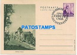 170290 LIECHTENSTEIN VADUZ CASTLE CANCEL YEAR 1945 POSTAL STATIONERY POSTCARD - Postwaardestukken