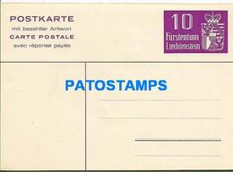 170293 LIECHTENSTEIN C / RESPONSE POSTAL STATIONERY CARD POSTCARD - Postwaardestukken