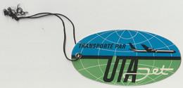 Etiquette Bagage Carton Compagnie Aérienne Française UTA Jet Union De Transports Aériens - Baggage Labels & Tags