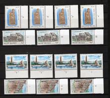 BELGIQUE BELGIE  2006/7 XX MNH  NUMEROS PLANCHE 1 2  3 4 5 6 Serie Complete  Europa Cept - 1981-1990
