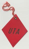 Etiquette Bagage Carton Rouge Compagnie Aérienne Française UTA  Union De Transports Aériens - Baggage Labels & Tags