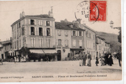 09 - SAINT GIRONS - Place Et Boulevard Frédéric - Arnaud - Saint Girons