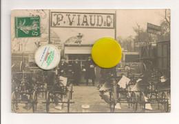 Ref 565 : CPA Carte Photo 16 BARBEZIEUX Etablissement P VIAUD Machine Agricole 1912 Concours Paris - Otros Municipios